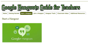 Hangouts for Teachers